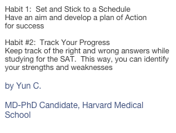 Habit 1:  Set and Stick to a Schedule